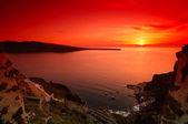 Sunset in Santorini — Stock Photo