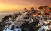 The village of Oia, Santorini, Greece — Stock Photo