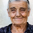 Happy old lady — Stock Photo