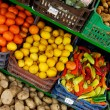 Fruit and vegetable stand — Stock Photo
