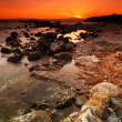 Rocky seascape sunset — Stock Photo