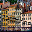 Residential buildings in Lyon, France - Stock Photo
