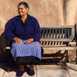 Old lady in a Greek village - Stockfoto