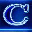 "The letter ""C"" in neon — Stock Photo"