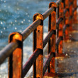Rusty barriers — Stock Photo