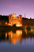 Lyon at dusk — Stock Photo