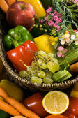 Vegetable and fruit basket — Stock Photo