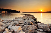Sunset in Pylos, Greece — Stock Photo