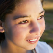 Young girl smiling — Stock Photo