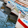 Moored fishing boats - Stockfoto