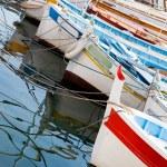 Moored fishing boats — Stock Photo #3424250