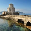 The watchtower of the medieval castle of Methoni, southern Greec - Foto Stock