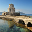 Stock Photo: Watchtower of medieval castle of Methoni, southern Greec