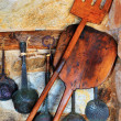 Traditional oven and cooking utensils - Stock Photo