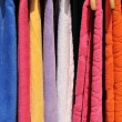 Colorful towels on sale — Foto de Stock