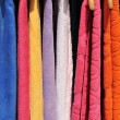 Colorful towels on sale — Stock Photo