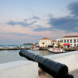 Old cannon on the island of Spetses - Stock Photo