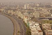 Marine Drive and Downtown Mumbai — Stock Photo