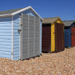 Stock Photo: Beachhuts