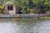 Laundry Day on The Backwaters — Stock Photo