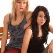 Two Sultry Young Women — Stock Photo