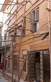 Stonetown Scaffolding — Stock Photo