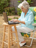 Working In The Garden — Stock Photo