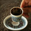 Turkish Black Coffee - Stock Photo