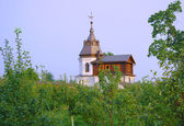Watchtower in the wall of old historic monastery — Stock Photo