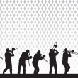 Artist with a trombone — Vector de stock  #3425204