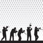 bir trombon sanatçısı — Stok Vektör