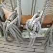 Rigging of an old sailing vessel — Stock Photo