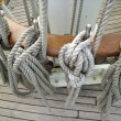 Stock Photo: Rigging of old sailing vessel