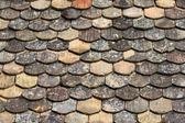 Dachówka dachu w średniowieczne miasto — Zdjęcie stockowe