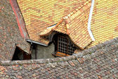 Tile roof of the house in a medieval city in Europe — Stock Photo