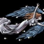 Sign on zodiac constellation The Virgin (Virgo) — Stock Photo