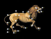 Sign on zodiac constellation Lion (Leo) — Stockfoto