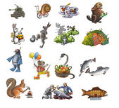 The various animals_1 — Stock Photo