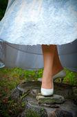 Füße der braut — Stockfoto