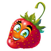 Strawberry character — Stock Photo