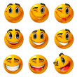 Happy smileys — Vector de stock #3730413