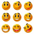 Vetorial Stock : Happy smileys