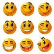 Happy smileys — Stock Vector
