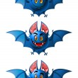 Stock Vector: Smiling bats