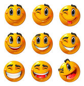 Happy smileys — Stockvector