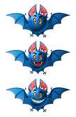 Smiling bats — Stock Vector