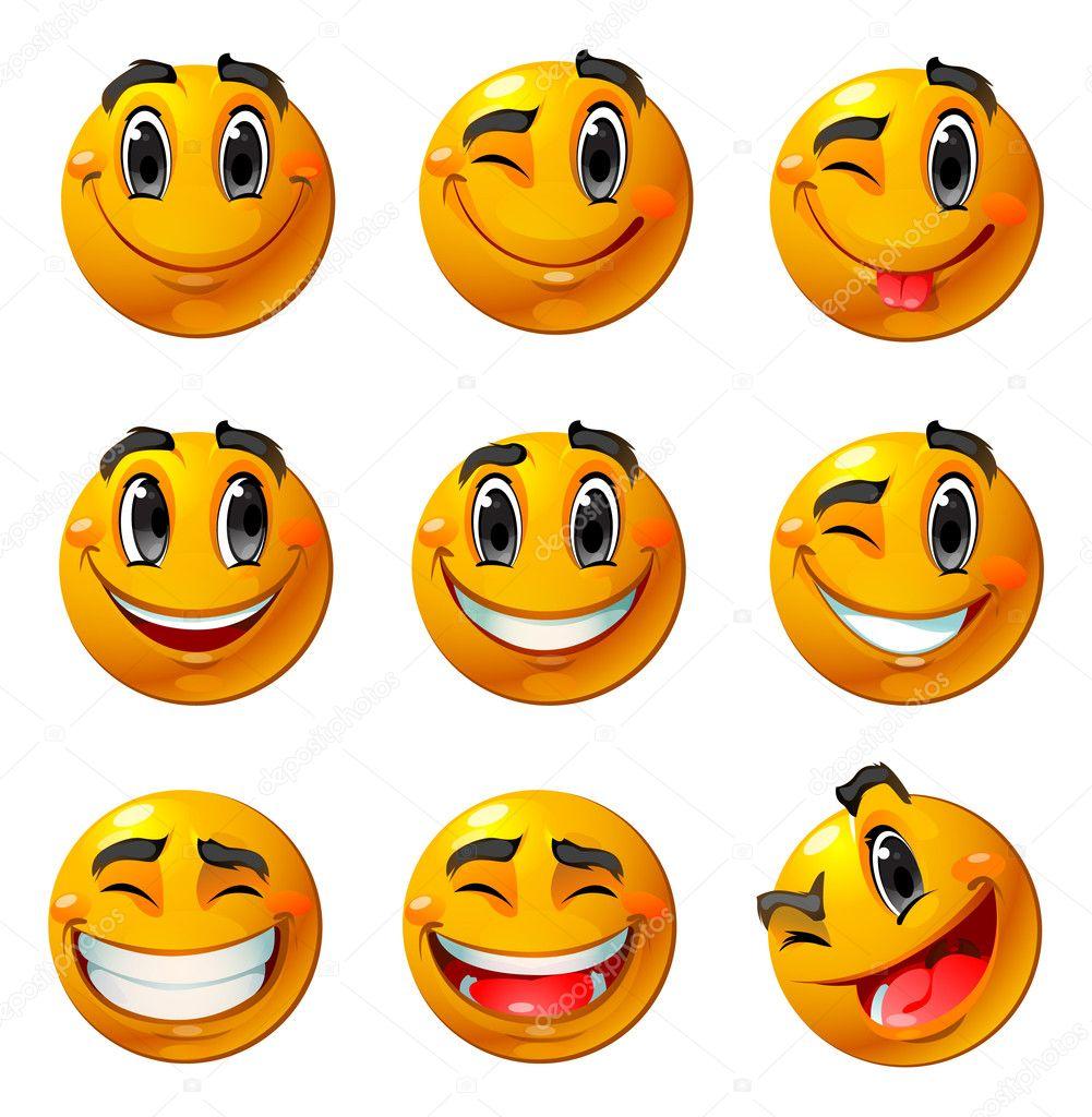 Depositphotos Stock Illustration Happy Smileys Smiley