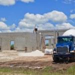 Cement Pour New Construction — Stock Photo