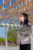 Asian Woman Contractor — Stock Photo