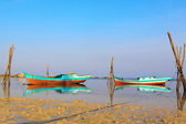 Fishing Boats, Belitung Island Indonesia — Stock Photo